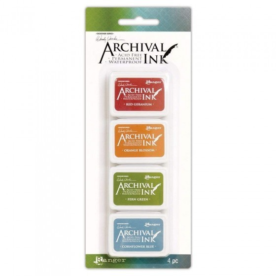 Ranger Wendy Vecchi Archival Mini Ink Pad Kit 4