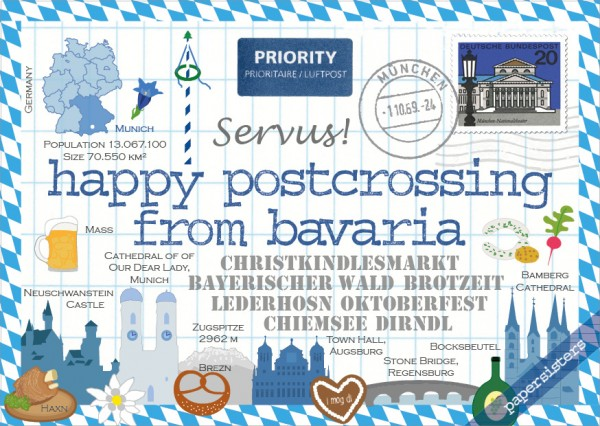 Happy Postcrossing Bavaria