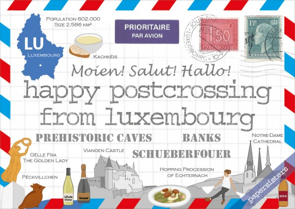 Happy Postcrossing LU