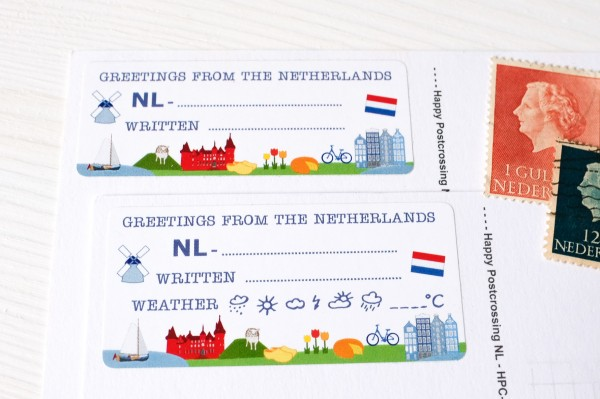 Greetings from NL Postcard ID Sticker Set 40 Stück