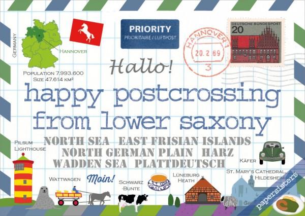 Happy Postcrossing Lower Saxony