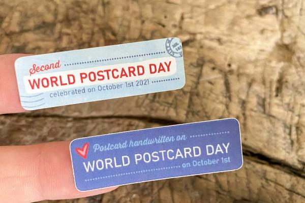World Postcard Day Sticker Set 60 Stück