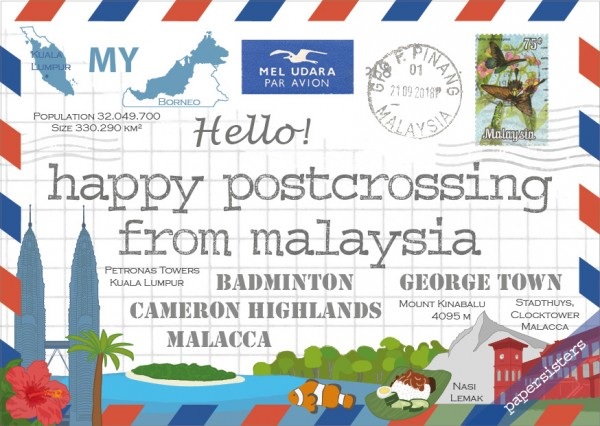 Happy Postcrossing MY
