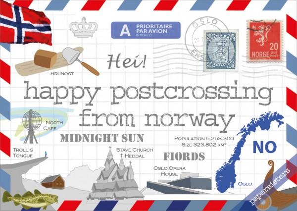 Happy Postcrossing NO