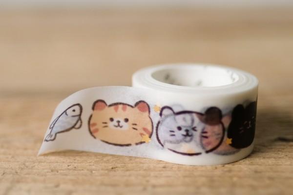 Masking Tape Glitter Cats