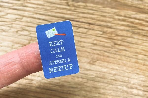 """""""Keep Calm"""" Meetup Sticker Set 60 Stück"""