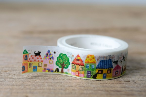 Masking Tape Glitter Village Life
