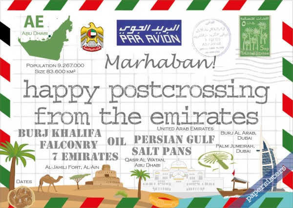 Happy Postcrossing AE