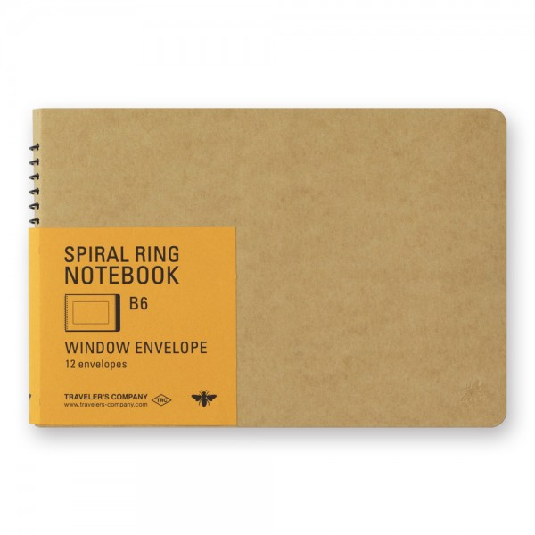 TRC Spiral Ring Notebook B6 Window Envelope
