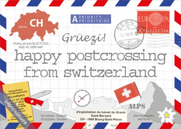 Happy Postcrossing CH