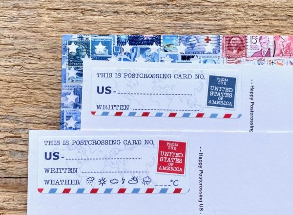 Postcard ID US Sticker Set 50 Stück