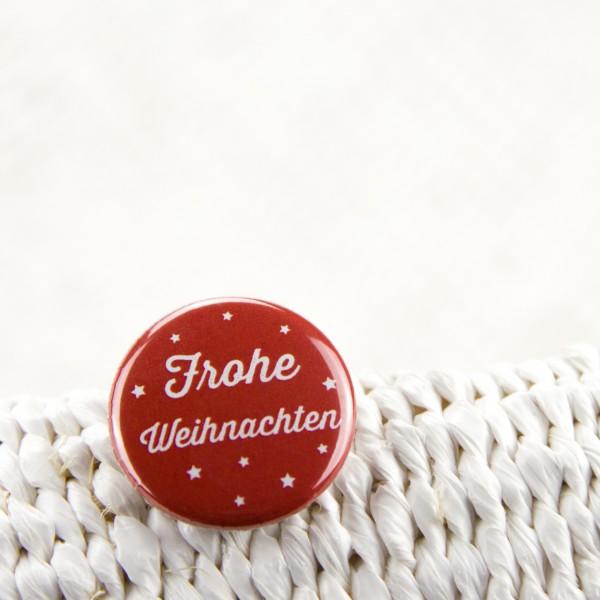 """Button """"Frohe Weihnachten"""""""