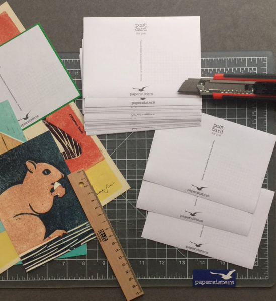 Postcard-Stickers