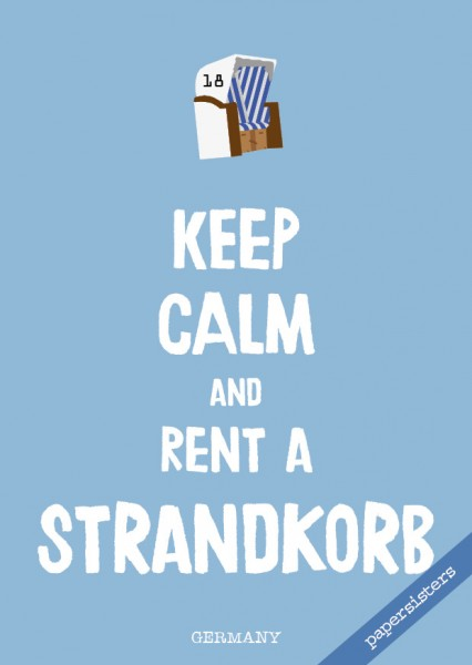 Keep calm Strandkorb - No.11