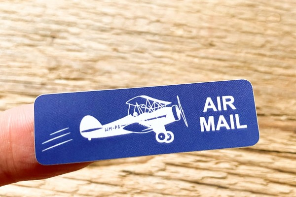 Vintage Look Airmail Sticker Set 60 pieces