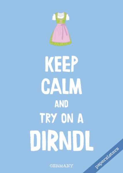 Keep calm Dirndl - No.15