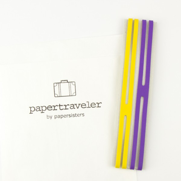 Rubber bands for papertraveler by papersisters - yellow and purple