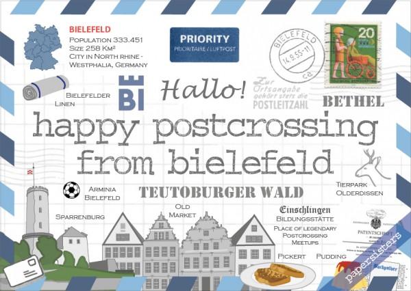 Happy Postcrossing Bielefeld