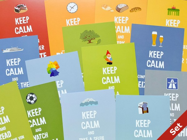 papersisters-Keep-calm-Postcard-Set-Discover-Deutschland-Germany