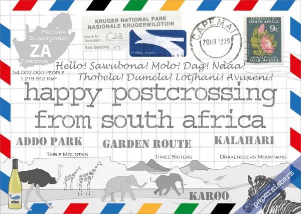 Happy Postcrossing ZA