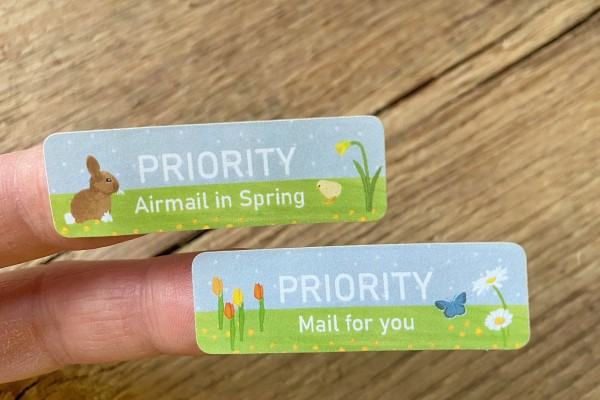 Spring Mail Sticker Set 60 pieces