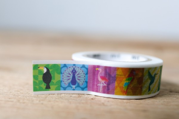 mt masking tape colorful bird