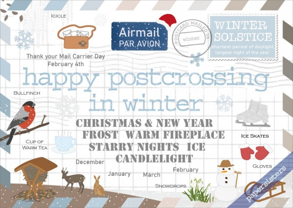 Happy Postcrossing in Winter