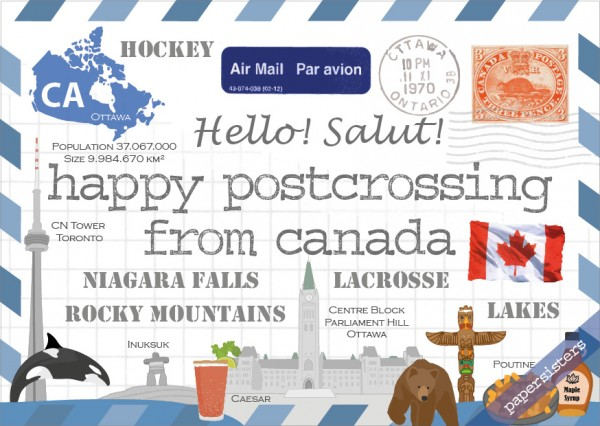 Happy Postcrossing CA