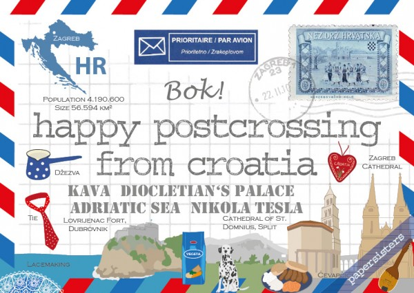 Happy Postcrossing HR