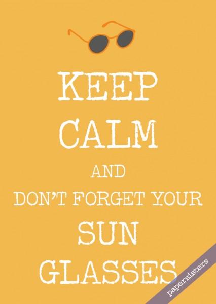 Keep calm Sun Glasses