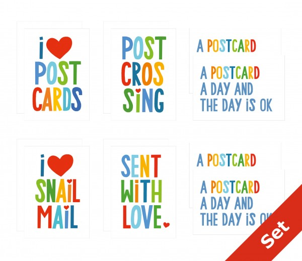 Bright Mail - set of 12 cards