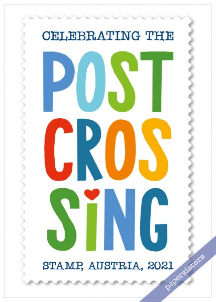 2021 Postcrossing Stamp Austria - Limited Edition -