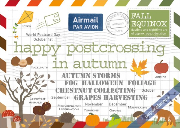 Happy Postcrossing in Autumn