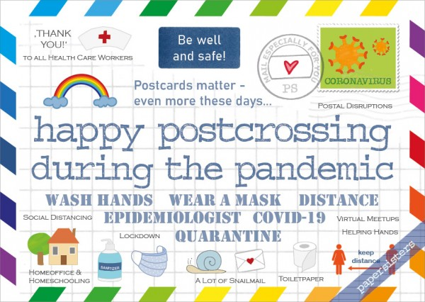 Happy Postcrossing during the pandemic