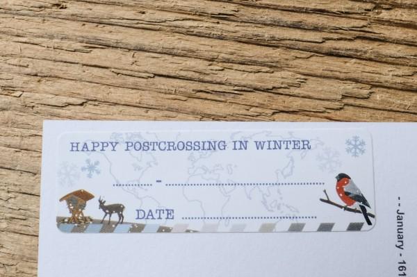 Postcard ID Sticker Set Winter 50 Stück