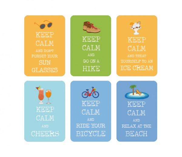 """""""Keep Calm"""" Summer Sticker Set 60 pc"""