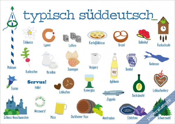 Typisch Süddeutsch