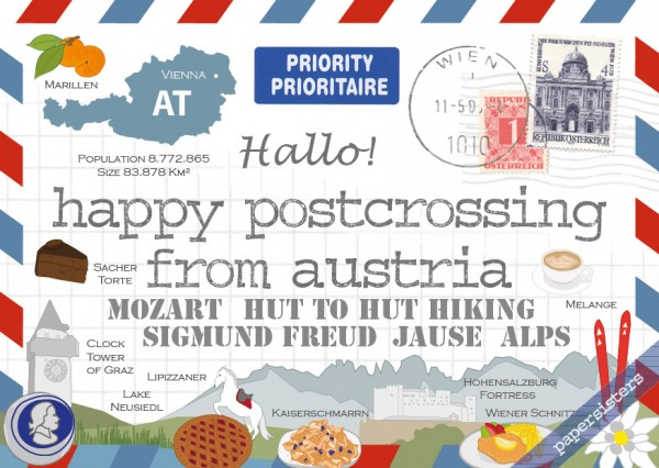 Happy Postcrossing AT - 3rd Edition