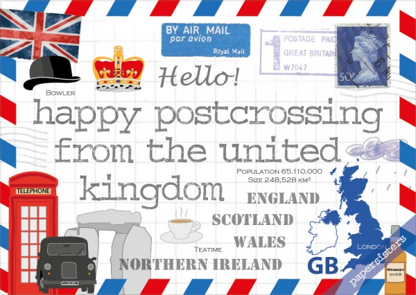 Happy Postcrossing GB
