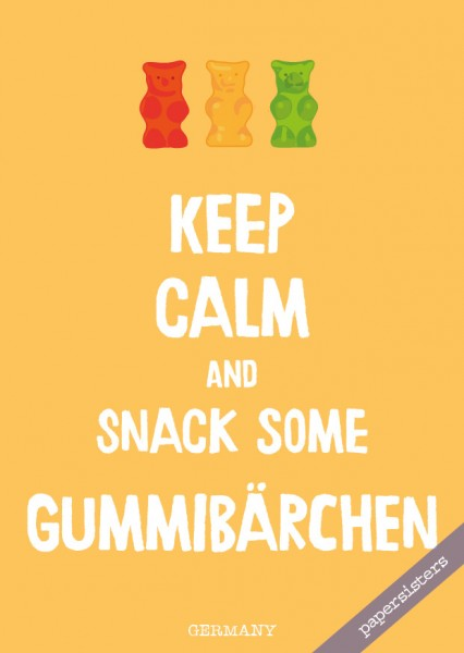 Keep calm Gummibärchen - No.18