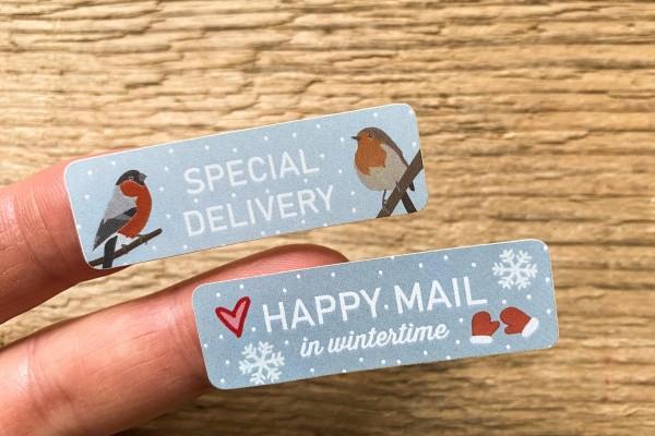 Winter Mail Sticker Set 60 Stück