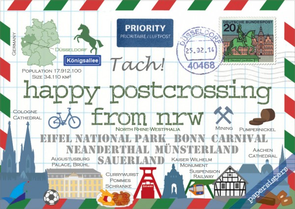 Happy Postcrossing NRW