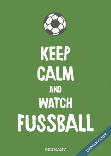 Keep calm Fussball - No.7