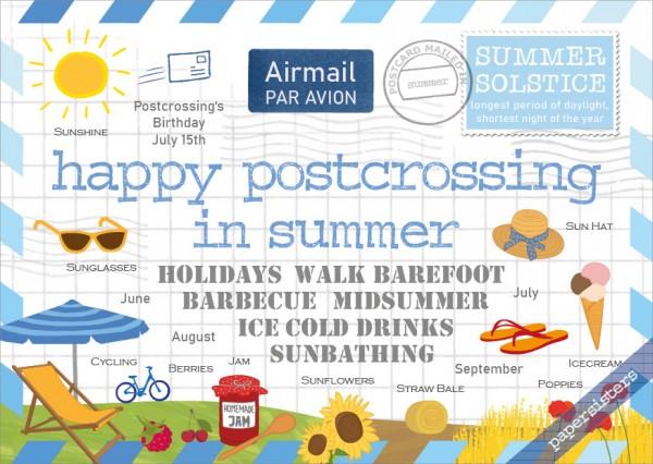 Happy Postcrossing in Summer