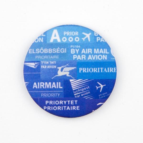 """Magnet rund """"Airmail"""""""