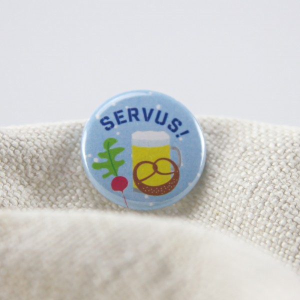 "Button ""Servus"""