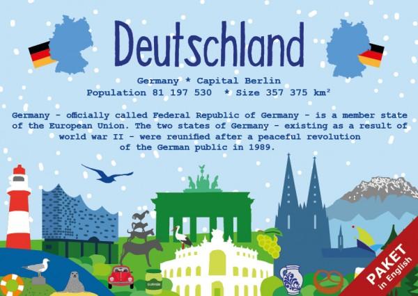Das Paket - alle 17 Karten - German Landmark Series