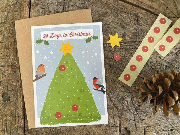24 Days to Christmas - Postkarten-Adventskalender-Set