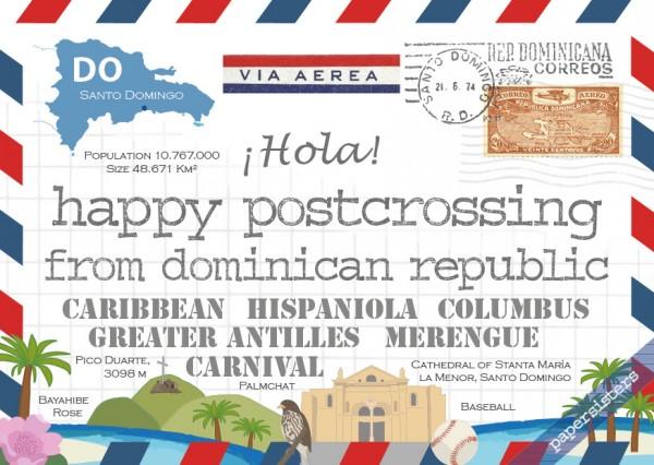 Happy Postcrossing DO
