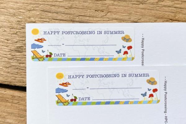 Postcard ID Sticker Set Summer 50 pieces